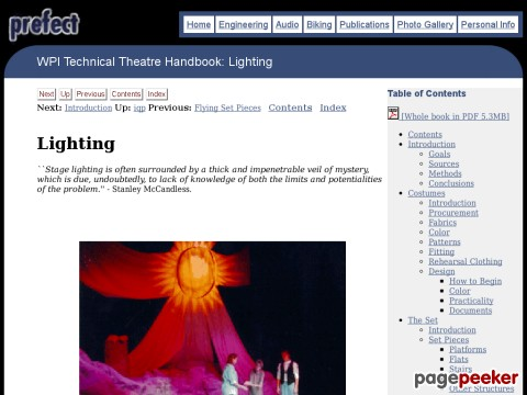 WPI Technical Theatre Handbook: Lighting