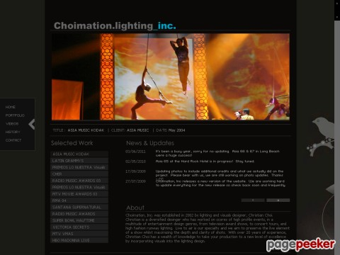 Christian Choi Lighting Design, Direction & Programming