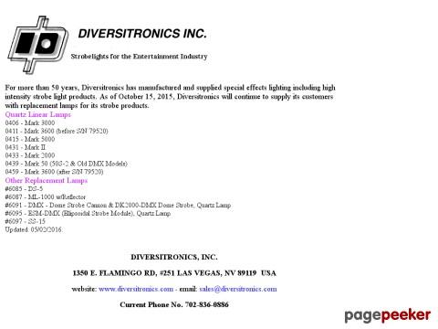 Diversitronics, Inc.