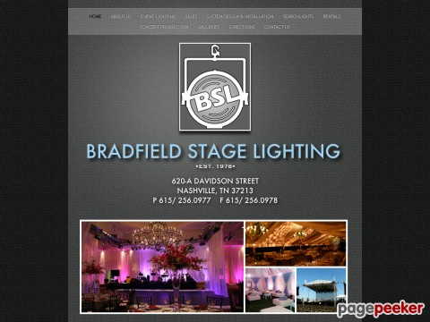 Bradfield Stage Lighting