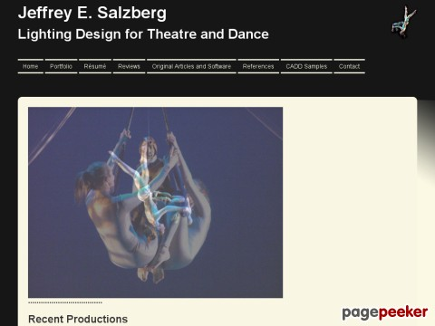 Jeffrey E. Salzberg, Lighting Designer
