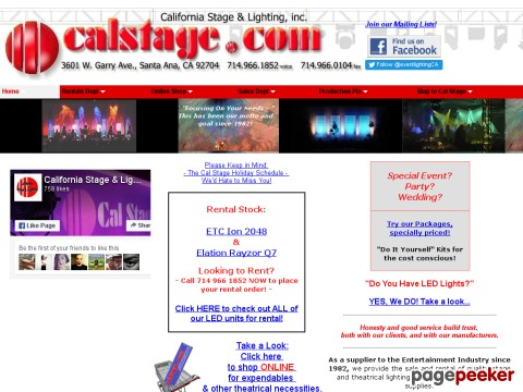 California Stage and Lighting