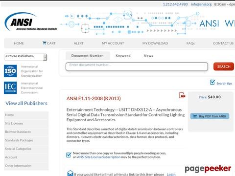 ANSI E1.11 Specification (DMX512-A)