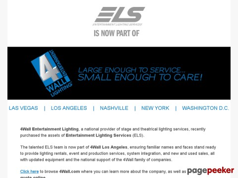 ELS - Entertainment Lighting Services
