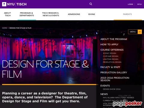 Stagelighting Info Tisch School Of The Arts Nyu