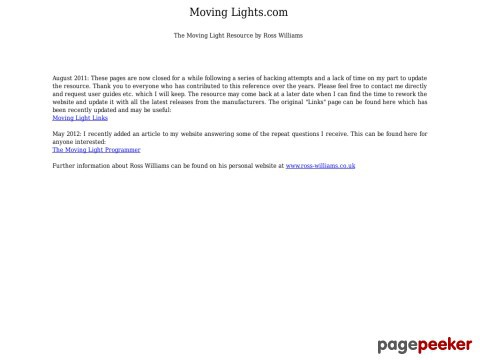 The Moving Light Resource