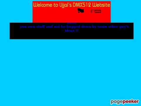 Ujjals DMX512 Pages